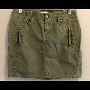 London Jean Green Khaki Mini Skirt (6)